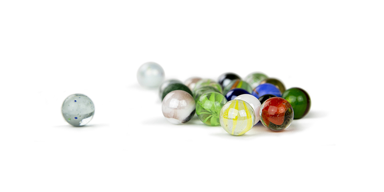Monthly savings marbles